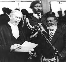 Namibia's first president being sworn in